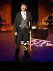 "Evan Ross as John Wilkes Booth sings ""The Ballad of Booth."""