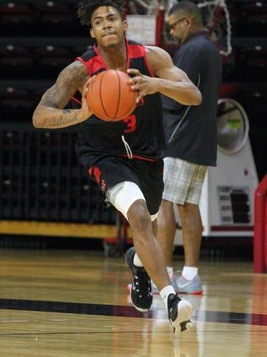 Rutgers hoops practice