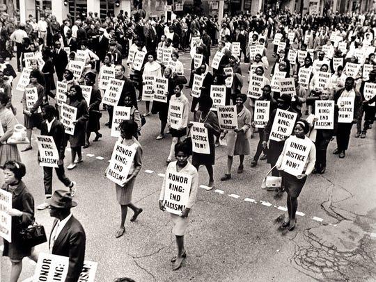 This image taken at an April 8 memorial march honoring