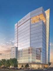 A rendering of the 18-story, $85 million WestStar Tower