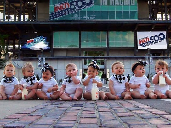 Close up photo of the eight babies at the Indianapolis