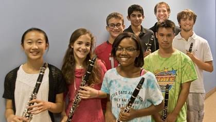 The clarinet ensemble from the Wharton School for the Performing Arts will perform at Rutgers Woodwind Day.