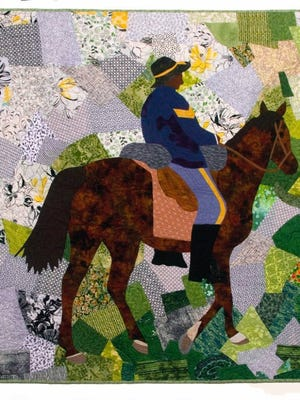 Contributed photo   'Sierra Soldier,' textile art created by Wichita Falls native Marion Coleman pays tribute to the Buffalo Soldiers who served in the U.S. Calvary during the late 1800s.