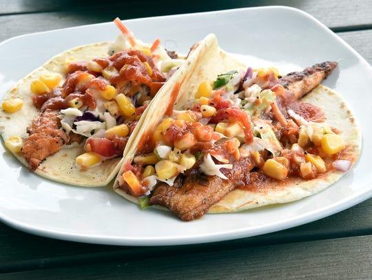 Catfish tacos are a popular dish served at 10 South in Vicksburg.