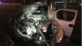 Ariel Vega, 36 of Toms River, was seriously injured after his car collided with a tractor trailer.