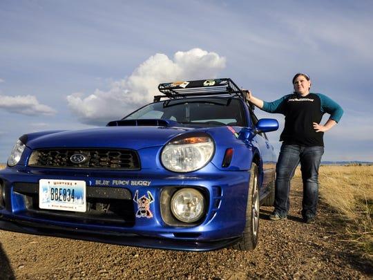 Kristen Steele, Subaru ambassador, was photographed