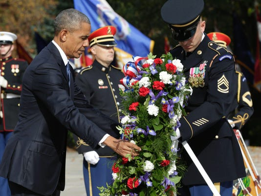 US-POLITICS-OBAMA-VETERANS DAY