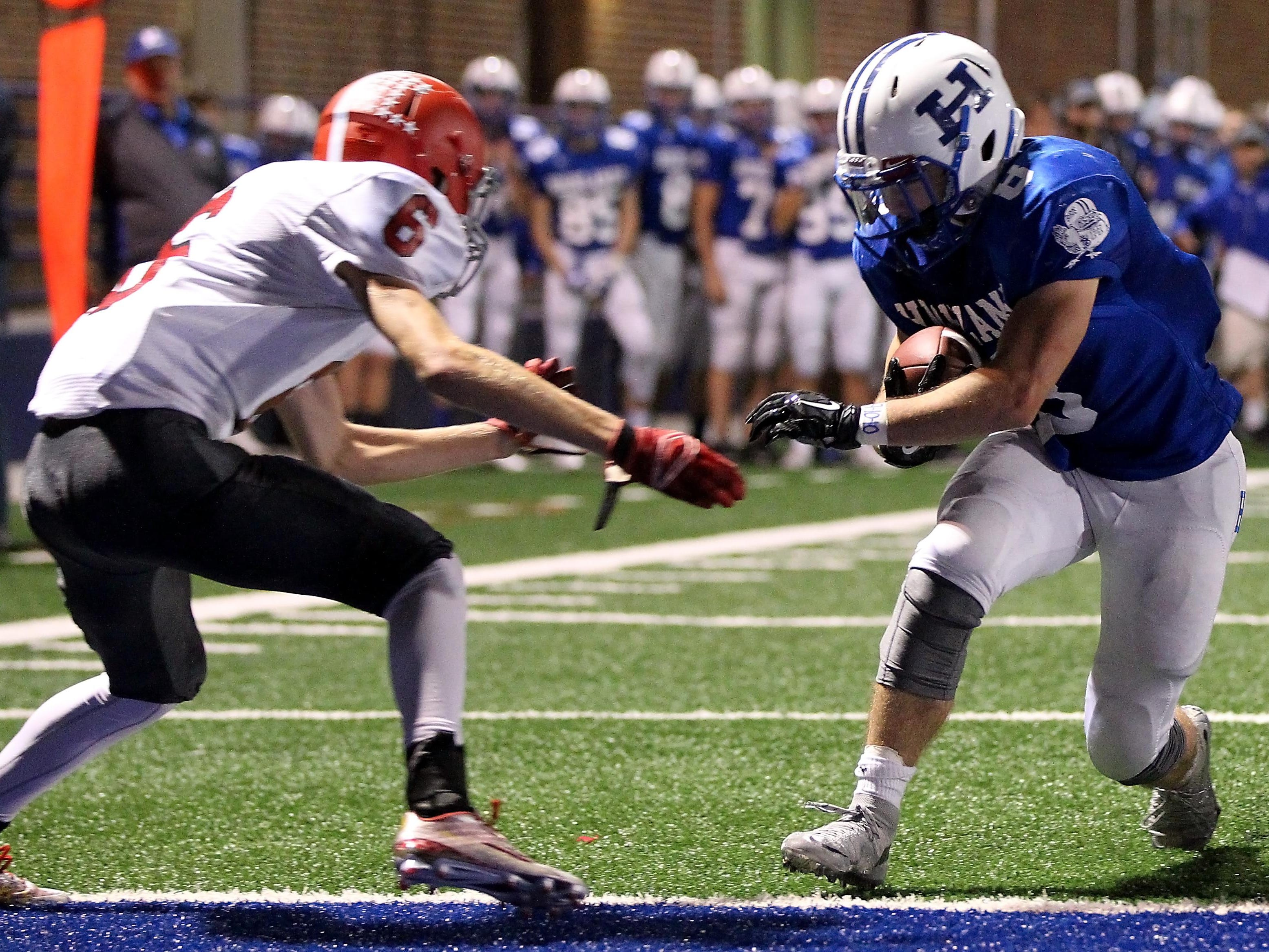Highlands running back Nick Kendall scores his second touchdown of the game against Dixie Heights Oct. 9.