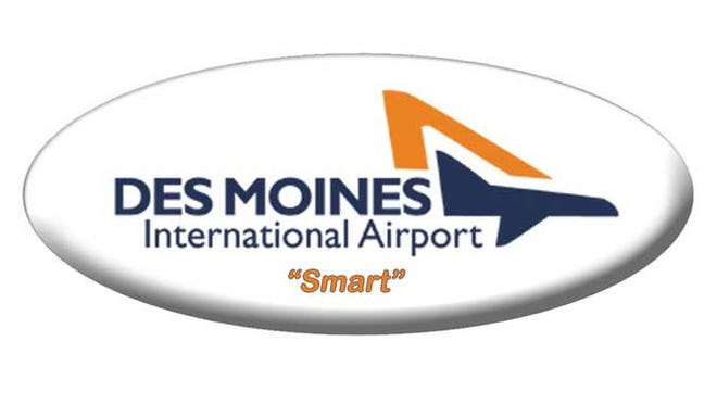 The logo for Iowa's Des Moines International Airport.