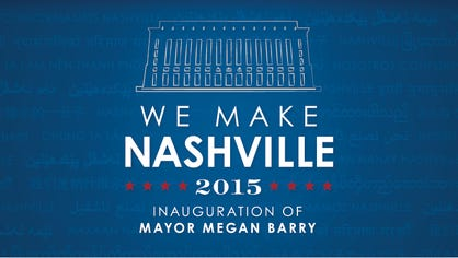 Megan Barry's mayoral inauguration logo.