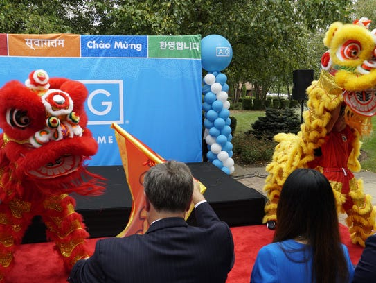 A traditional Chinese lion dance marked the recent