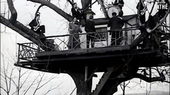 """""""Climbing Trees to Dance,"""" a 1930 Film by British PATHE; LOVE NEST, Hallam, PA,"""