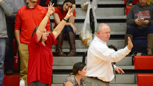 Erwin coach Terry Gossett and his wife, Michelle, helped