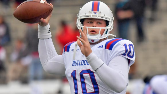 Louisiana Tech quarterback Price Wilson (10) announced