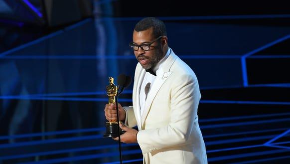 As Jordan Peele accepted the Oscar for original screenplay,