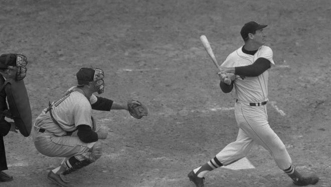 September 28th, 1960: Ted Williams hits a home run in his last career at bat.
