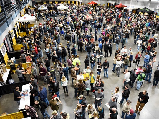 About 3,000 people had a chance to try samples from
