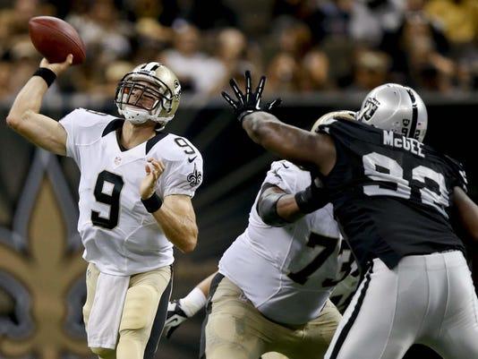 NFL: Preseason-Oakland Raiders at New Orleans Saints