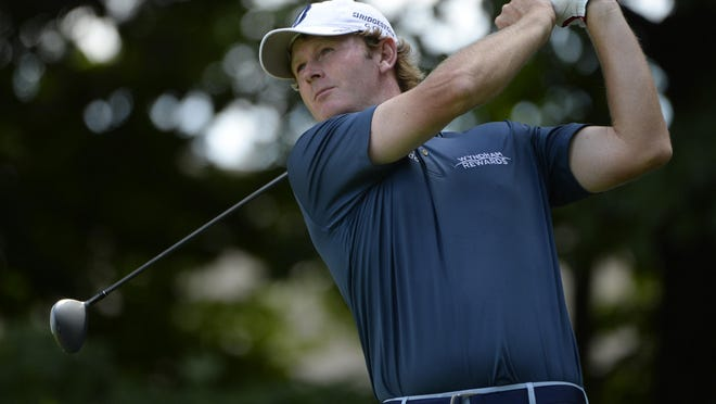 Brandt Snedeker tees off the 11th hole during the third round of the RBC Canadian Open on Saturday.