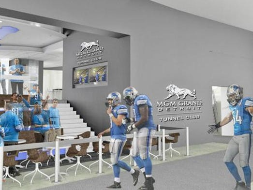 Detroit lions revamping 39 most prestigious area 39 at ford field for Courtesy motors stevens point