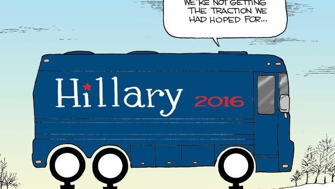 Steve Breen, San Diego Union-Tribune, drew this Desert Sun editorial cartoon for Feb. 10, 2016.