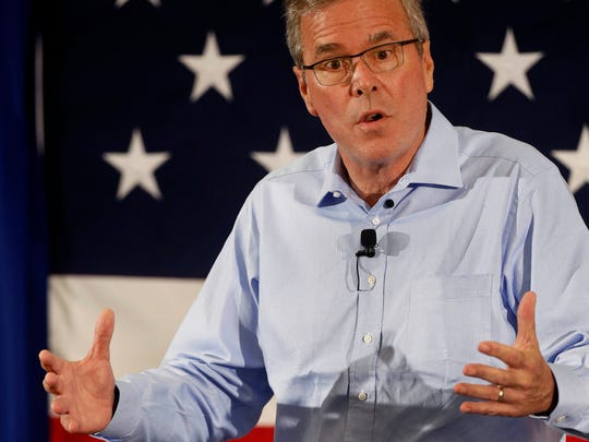 Former Florida Gov. Jeb Bush speaks at a Republican