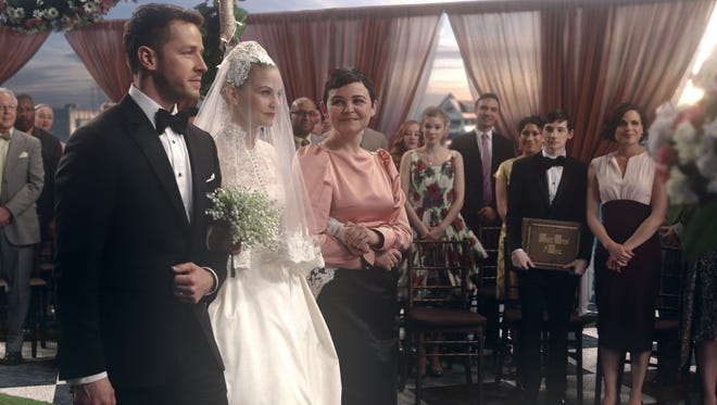 Josh Dallas, Jennifer Morrison and Ginnifer Goodwin in ABC's 'Once Upon a Time.'