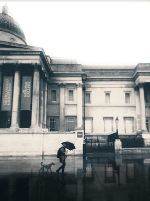 Wauwatosa East High School student Sam Janisch created this photograph of the National Gallery in London, which was then featured on a greeting card sold at the school to raise money for hurricane victims.