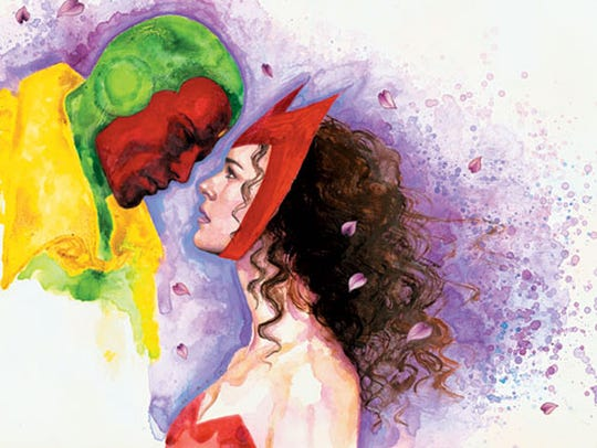 Vision and Scarlet Witch have a relationship in Marvel