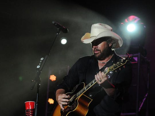 Headliner Toby Keith brings his Hammer Down Tour to Country USA Friday, June 28, 2013 at Ford Festival Park in Oshkosh.