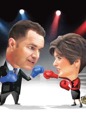 Bruce Braley and Joni Ernst