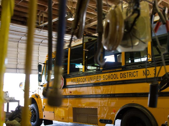 One of the Holbrook Unified School District's fleet
