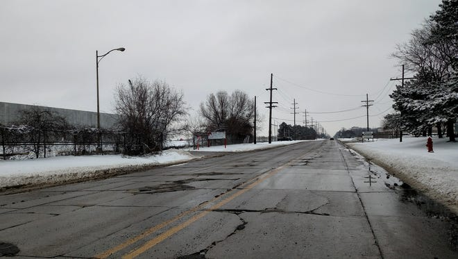 Amrhein Road just east of Eckles Road in Livonia.