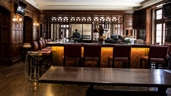 The newly renovated Tavern at the Granville Inn. The room is just awaiting final touches before opening day.