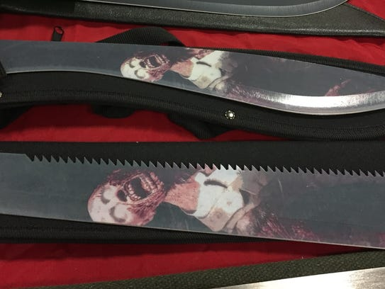 A zombie machete lets the creatures know you're coming
