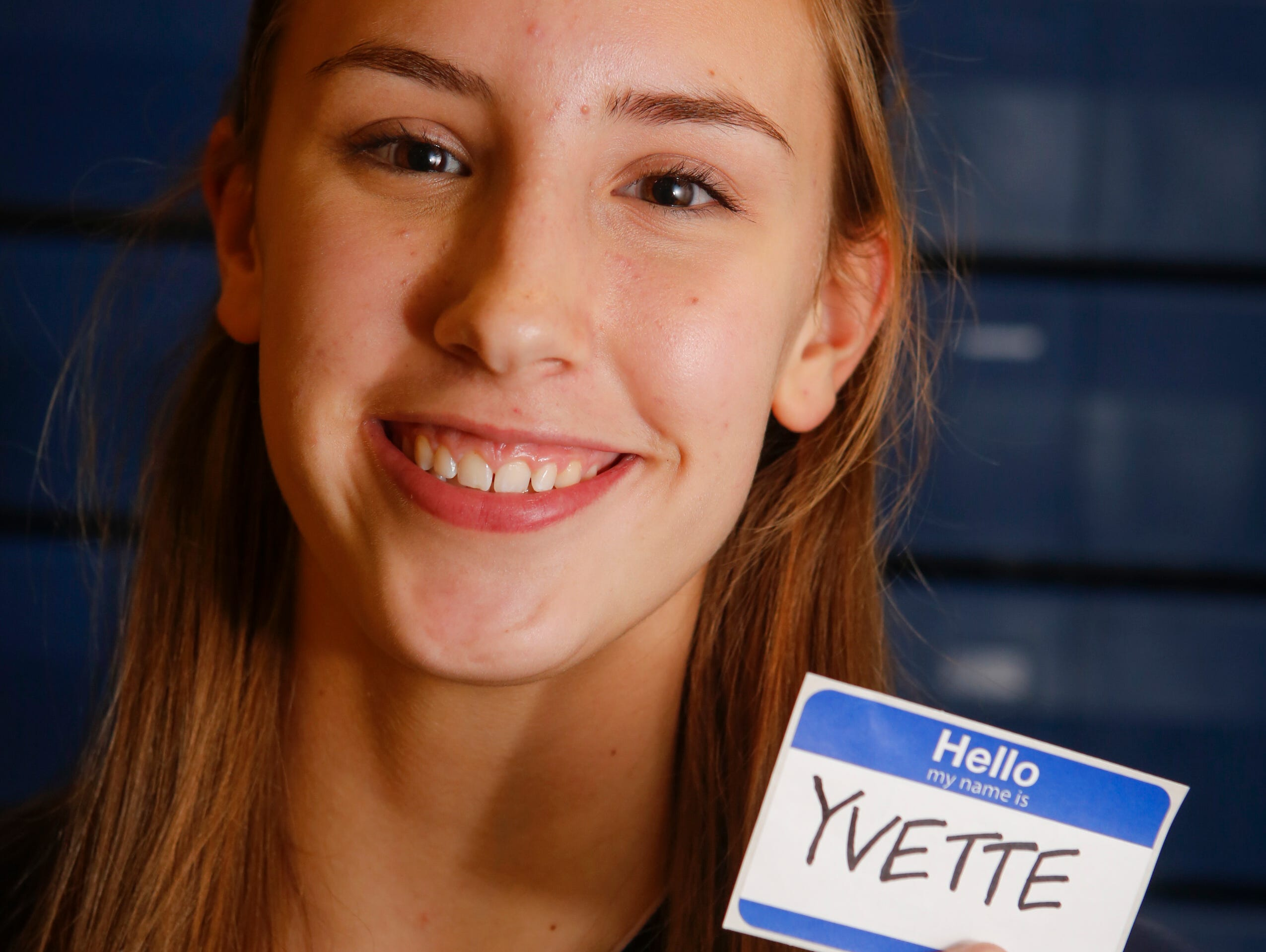Walter Panas High School Volleyball Player of the Year Yvette Burescu at the school on Nov. 30, 2015.