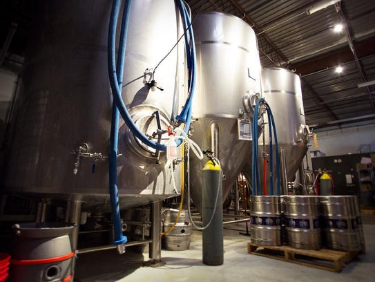 The brewing facilities at Bent Brewstillery.