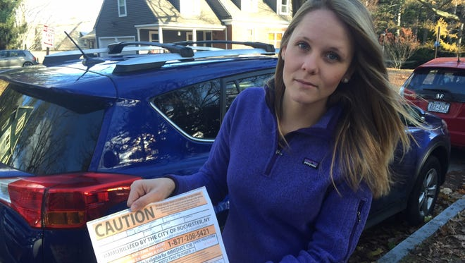 Sarah Sampson has twice had her car booted after license plate readers used by  Rochester parking enforcement officers misread her plate.