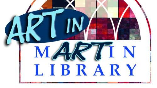 Art in Martin Library logo