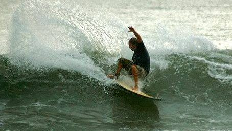 Surfing is a popular sport on the Space Coast.