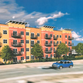 A concept design shows possible downtown apartments in Sauk Rapids.