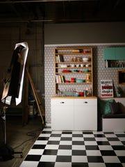 A vertical kitchen was built at Tastemade Studios in