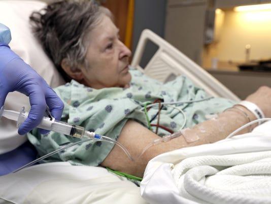 APTOPIX Hospitals-Flu Season-Shortages