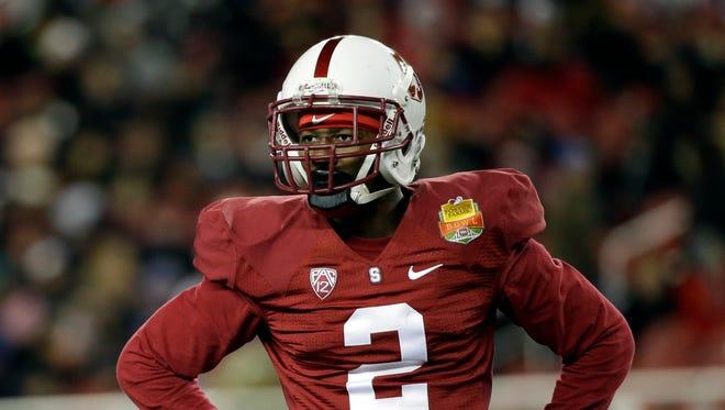 Stanford cornerback Wayne Lyons.