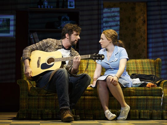 """Nick Cordero and Jessie Museller in """"Waitress."""""""