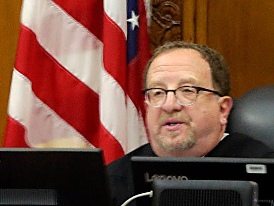 Judge Jeffrey Conen sentences Dominique Heaggan-Brown to three years of incarceration for unrelated sex crimes Tuesday.