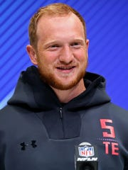 Washington Huskies tight end Will Dissly at the NFL combine last month in Indianapolis.