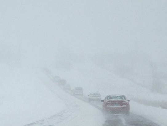 Visibility on Interstate 89 southbound in Williston