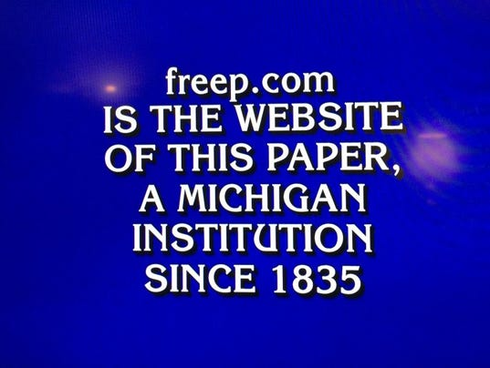 jeopardy detroit free press clue