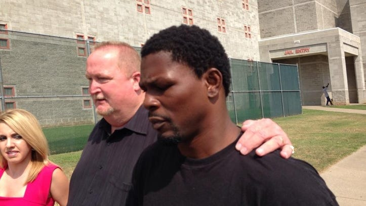 Jermain Taylor bonds out after being arrested Tuesday.